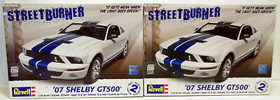 Lot of 2 Revell 2007 Shelby GT500 1/25 Model Kits Parts