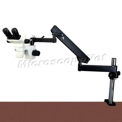 6.7X-45X Articulating Arm Stereo Zoom Microscope with 150W Ring Fiber Cold Light