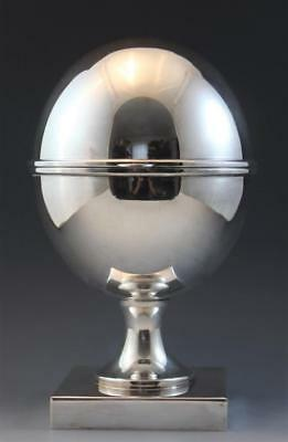 Large St James Egg Shaped Oval Silver Plate Caviar Holder Dish Made in Brazil