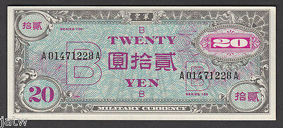 JAPAN - Allied Military (1945-51) WW.11 Issue. 20 YEN.. 'B' underprint.. aU-UNC