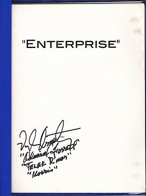 "Star Trek: ENTERPRISE SCRIPT Final Draft ""TERRA NOVA"" Signed ARMSTRONG"