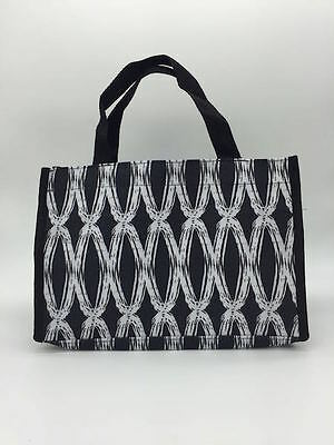 NEW thirty one Bag mini tote 31 all in one organizer gift retired black links b