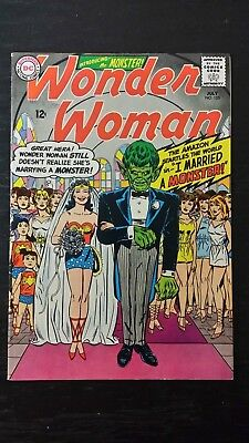 1965 Dc Comics Wonder Woman #155 Monster Wedding Cover Flat Rate Shipping
