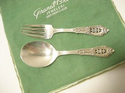 Vintage Sterling Silver Wallace Baby spoon and fork
