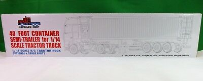 40 foot Tri Axle Container Trailer & CONTAINER for Tamiya 1:14 RC Semi Trailers
