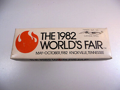 Vintage 1982 WORLDS FAIR Knoxville Tn pocket knife NOS never used