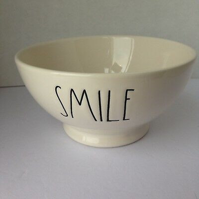 """New Rae Dunn """"SMILE"""" Cereal/ Dessert Bowl by Magenta Farmhouse Style Print"""