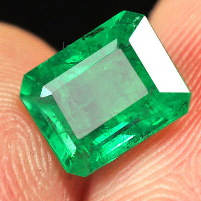 1.4Ct 100% Natural Museum Grade Green Emerald Collection QMD3439