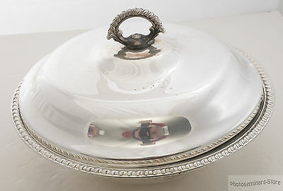 """Wm Rogers Vintage Silver-Plated Covered Round Serving Bowl 11¼"""" (#2277)"""