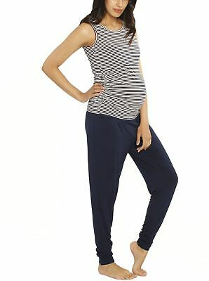Maternity & Nursing Bamboo Relax Outfit - Navy Stripe