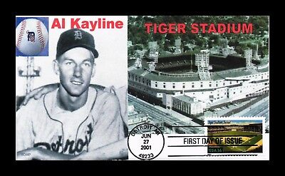 Dr Jim Stamps Us Tiger Stadium Legendary Baseball Playing Fields Fdc Cover 2001