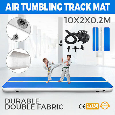 Inflatable Gym Mat Air Tumbling Track Floor w/Pump Running Airtrack Sporting