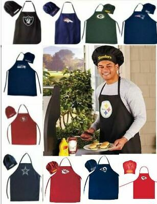 Chef Hat And Apron Set - NFL Teams Pick Your Team: Redskins, Cowboys, 49ers etc.