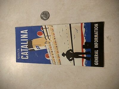 """Vintage Travel Brochure for """"Santa Catalina"""" w/Bright Colored Picture on Cover *"""