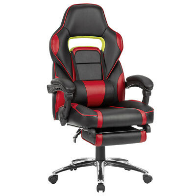 Ergonomic Racing Computer Gaming Executive Office Chair with Padded Footrest US
