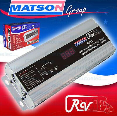 Matson 7 Stage 15A Amp 12V Volt Agm Deep Cycle Smart Battery Charger Agm Sla New