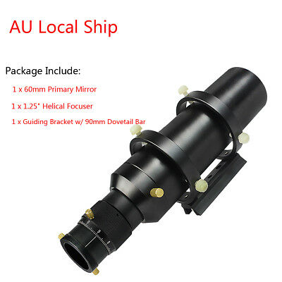 """AU Ship 60mm Guide Deluxe Compact Scope Finderscope 1.25 """"Double Helical Focuser"""