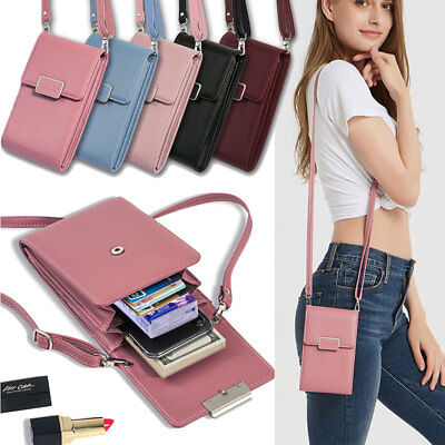 For iPhone XS Max XR Mini Cross-body Shoulder Bag Case Belt Handbag Purse Wallet