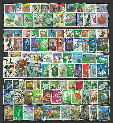 JAPAN STAMP COLLECTION PACKET of 100 DIFFERENT Mostly Used NICE SELECTION