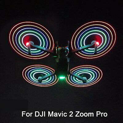For DJI Mavic 2 Zoom Pro Low-Noise LED Propeller Blades Night Fly Accessories UK