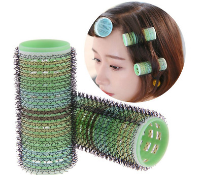 8pcs Home DIY Magic Self Adhesive Hair Rollers Hairdressing Large Styling Curler