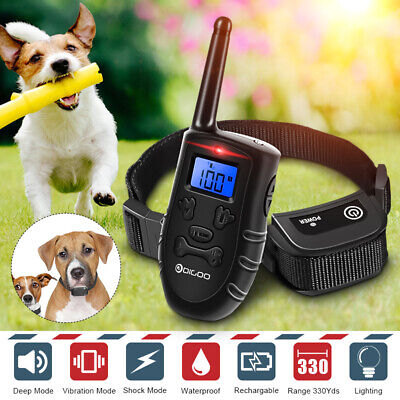 Digoo LCD Display Pet Dog Waterproof Training Collar Rechargeable Electric Shock