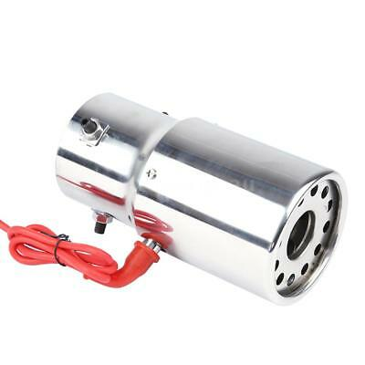 Car Exhaust Pipe Red Light Stainless Steel Flaming Muffler Tip Straight O1U1