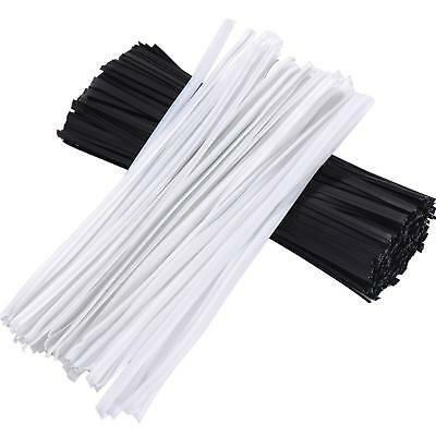 500pcs Durable Twist Ties Cable Wrap for Bakery Gardening Candy Bags Crafts