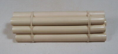 Beautiful rare lot of galalith beige marbled 8 rods 547 grams