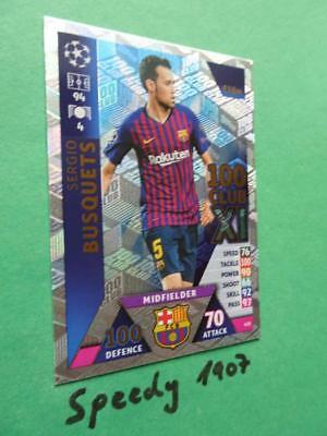 Sport Trading Cards Topps Match Attax Champions League 2018-2019 Karte Nr.435 Sergio Busquets 100 ..