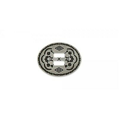 Southwest Slotted Concho - Oval - Nickel Free - Frosted Nickel Finish - (43mm