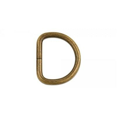"""1909 D Ring 1-1/2"""" (38mm) - Nickel Free - Antique Brass Finish - Pack Of 10"""