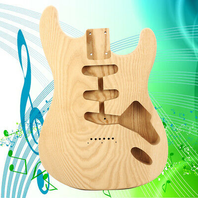 Unfinished DIY Fraxinus Spp Electric Guitar Body For Fender ST Style Guitar NEW
