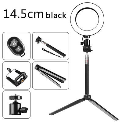 "6"" LED Ring Light W/ Stand Dimmable LED Lighting Kit For Makeup Youtube Live"