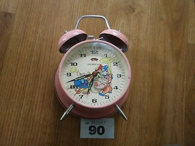 Vintage Golden Tune Pink Moving Alarm Clock
