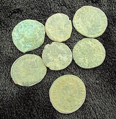 Unclean LOT of Ancient Roman Bronze Coins to Identify  circa 200 - 400 AD (+135)