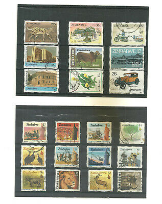 Commonwealth  Zimbabwe Rhodesia      3 stock cards mix collection stamps
