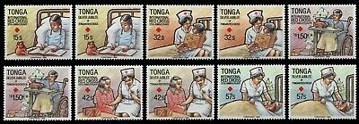 Tonga 1988 - Mi-Nr. 1051-1060 ** - MNH - Rotes Kreuz / Red cross