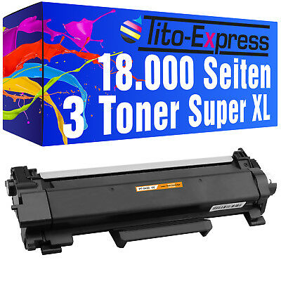 3 Toner Super-XL mit Chip ProSerie für Brother TN2420 DCP-L 2510 D DCP-L 2530 DW
