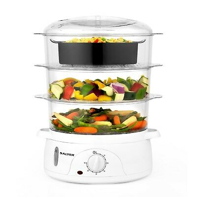 Salter Healthy Cooking 3-Tier Electric Food Kitchen Rice Meat Vegetable Steamer