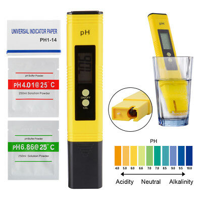 High Precision Digital PH Meter Tester with ATC and 0-14 PH Test Paper TH926