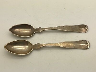 """1800's Coin Silver Palmer & Bachelders 4"""" Dainty Spoons"""