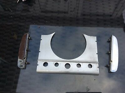 Morris Minor 1000 Dash Trim Speedometer Surround Chrome Set
