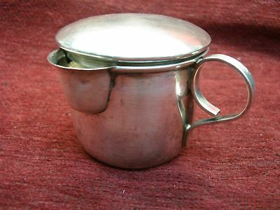 Lopez Mexico - Sterling Silver Baby Cup With Spout And Cover - Nicely & Sturdy