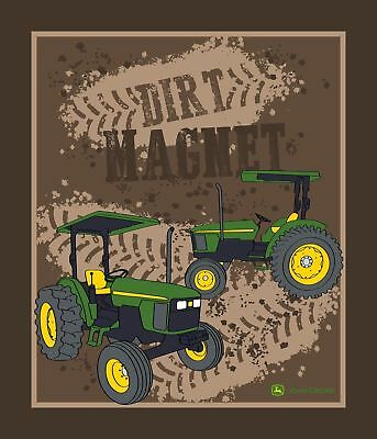 John Deere Tractor 100% cotton fabric sold by PANEL CP64095 Dirt Magnet  35x43 a9f9c31f8843