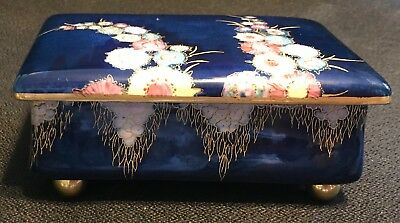 LARGE  1920's /30's CARLTON WARE GARDEN   FOOTED BOX-  NEAR MINT CONDITION
