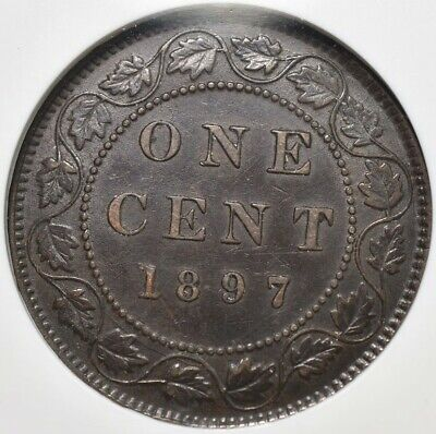 1897 Canada 1C - NGC AU55 Brown