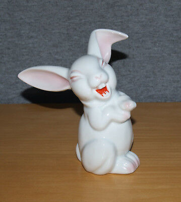 Superb Vintage Rosenthal White Porcelain Comical Rabbit Figure