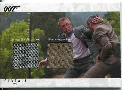 James Bond Autographs & Relics Dual Relic Card SCDC2 Bond & Patrice
