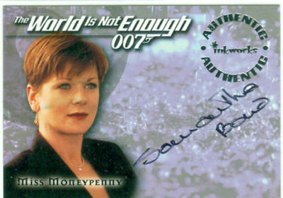 James Bond The World In Not Enough Autograph A5 Samantha Bond